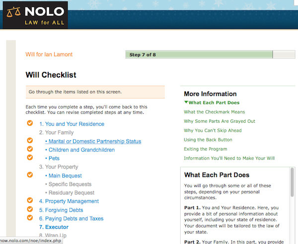 Nolo online will review