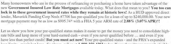 What is an ARM mortgage example